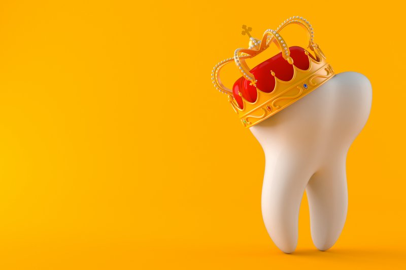 Tooth wearing crown